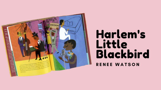 one of the pages in the feminists kids book harlem's little blackbird
